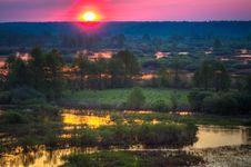 Free Beautiful Lake On Sunset Royalty Free Stock Photos - 29681148