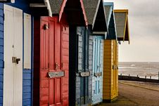 Free Colorful Beach Huts Stock Photo - 29682160