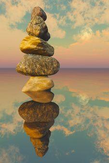 Free Zen Lake Rocks A1 Stock Photos - 29682853