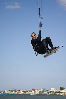 Kitesurfer In The Air Royalty Free Stock Images