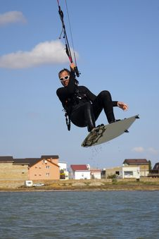 Free Kitesurfer In The Air Stock Images - 29685624