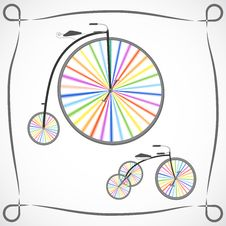 Free Bicycles With Rainbow Wheels Stock Photos - 29685993