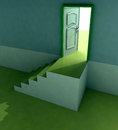 Free Yellow Staircase Doorway Passage Perspective Royalty Free Stock Photo - 29691475