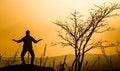 Free Praying Man Silhouette Royalty Free Stock Photography - 29693347
