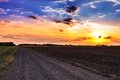 Free Sunset And Rural Road. Royalty Free Stock Images - 29694439