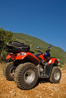 Quad-bike On The Road Stock Images