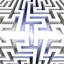 Free Shiny Three Dimensional Maze Block Edge Stock Photography - 29691952