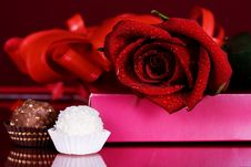 Free Roses And Sweets Stock Images - 29695444