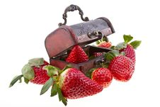 Free Strawberry In A Chest Stock Photos - 29695983