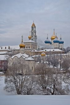 Free Holy Trinity Sergius Lavra In Winter Stock Images - 29697754