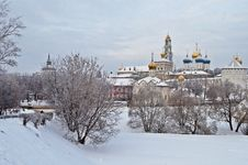 Free Holy Trinity Sergius Lavra In Winter Royalty Free Stock Photography - 29697787