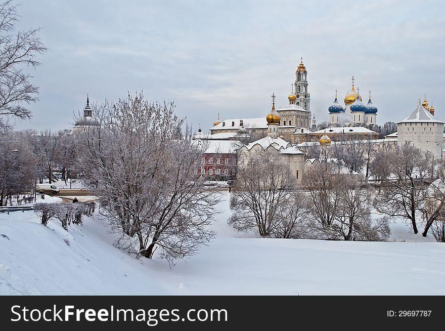 Holy Trinity Sergius Lavra in winter