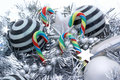 Free Candy Canes And Striped Balls. Royalty Free Stock Photography - 2979597
