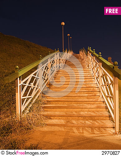 Free Night Stairs Royalty Free Stock Photography - 2970827