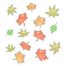 Free Autumn Leaves Illustrated Stock Photos - 2970623