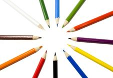 Free Colored Pencil Royalty Free Stock Photography - 2970877