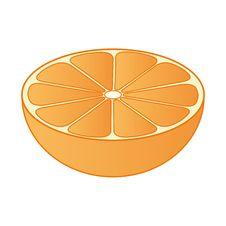 Half Orange 01 Stock Photo