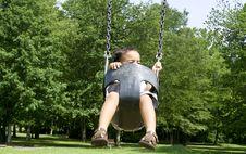 Free Toddler Swing Motion Stock Photos - 2972273