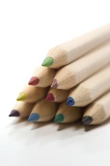 Free Wooden Color Pencils Royalty Free Stock Image - 2972576
