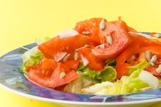 Free Tomato-lettuce Salad With Seed Royalty Free Stock Images - 2973779