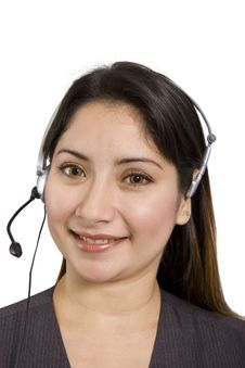 Free Lady With Headset Stock Photography - 2975072