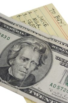 Free Dollars And List Stock Photography - 2975272