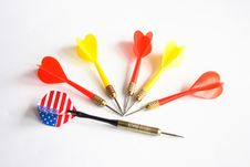 Free Darts Royalty Free Stock Photo - 2975445
