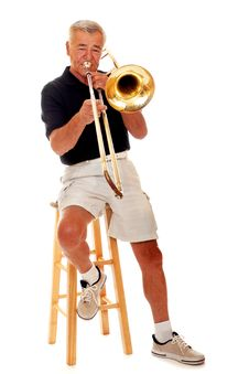 Free Senior Trombone Player Stock Photos - 2976363