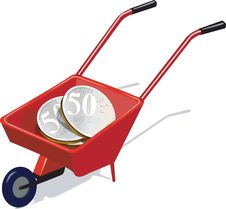 Free Wheel Barrow And  Cent Royalty Free Stock Photos - 2977438