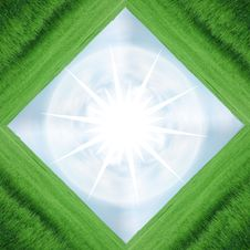 Green Frame Star Royalty Free Stock Photo