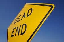 Free Dead End Traffic Sign Royalty Free Stock Photography - 2979397