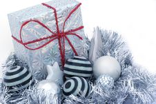 Free Present In Red Ribbon. Royalty Free Stock Images - 2979579
