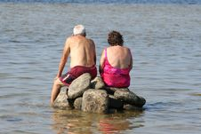 Free Couple At Beach Stock Images - 2979904