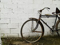 Free Bicycle Against Concrete Wall Stock Image - 29701681