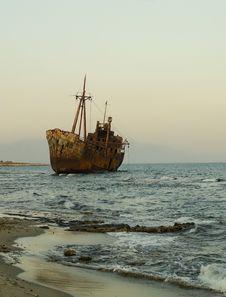 Free Ship Wreck M/V Dimitrios Stock Image - 29701881