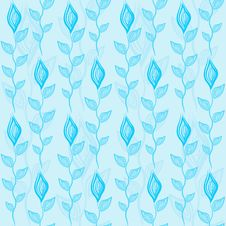 Free Flowers Seamless Pattern Royalty Free Stock Image - 29704726