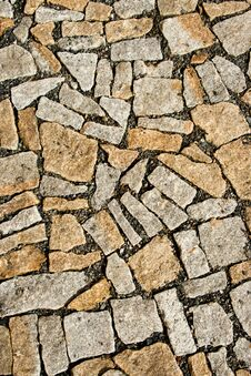 Various Shapes Granite Paving Stock Images