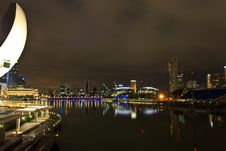 Free Marina Bay Night View Stock Photo - 29708090