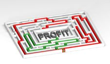 Free 3d Maze Profit Stock Photography - 29708102