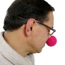 Free Clown With Red Nose. Stock Photos - 29708553