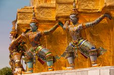 Free Wat Phra Kaeo Guardians Stock Photography - 29708562