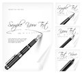 Free Writing Tools And Paper Sheet & Text Stock Photos - 29714523