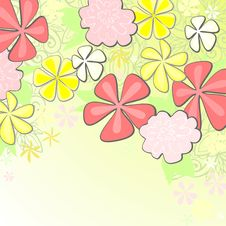 Spring Floral Background Stock Photo