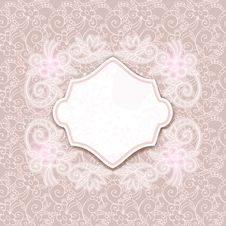 Free Retro Card With Seamless Floral Ornament Stock Photo - 29710350
