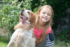 Free Child With Dog Stock Images - 29713314