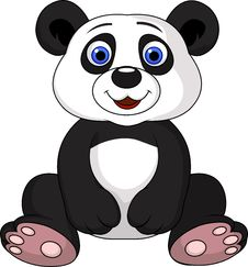 Free Cute Panda Cartoon Royalty Free Stock Photography - 29714167