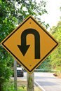 Free U-turn Symbol Road In Rustic City In Thailand Royalty Free Stock Photos - 29725418