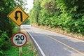 Free U-turn Symbol Road In Rustic City In Thailand Stock Images - 29725504