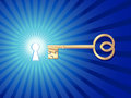 Free Keyhole With Key Royalty Free Stock Image - 29728646