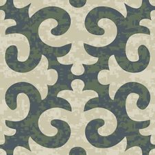 Free Seamless Shyrdak Fleur De Lis Background Pattern Royalty Free Stock Photos - 29721768